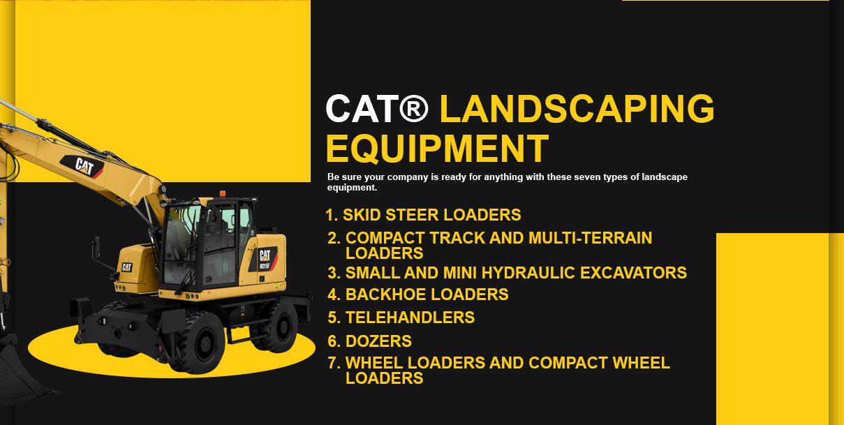 Cat Landscaping Equipment